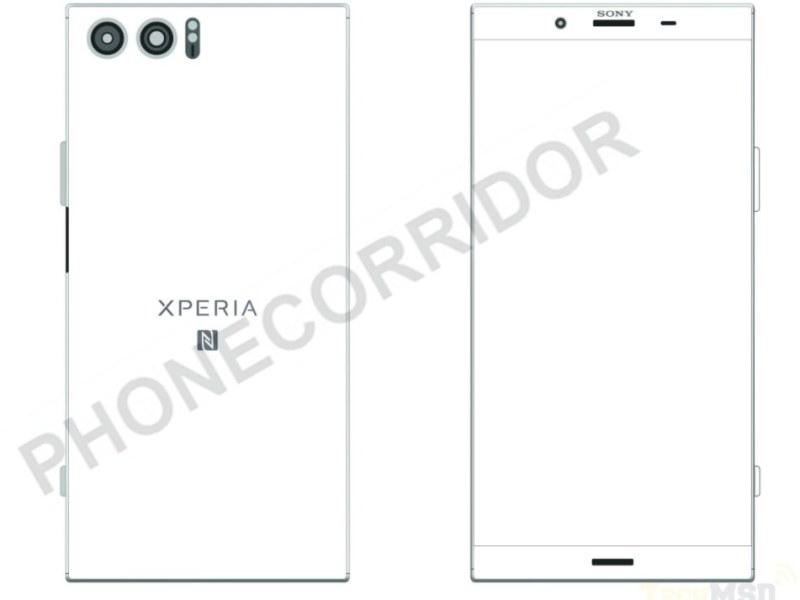 Sony Xperia XZ Pro Skizze