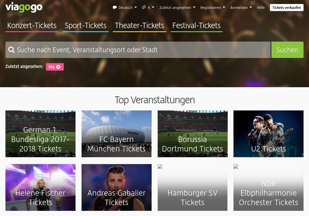 Viagogo Screenshot