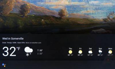 Google Chromecast Assistant Wetter