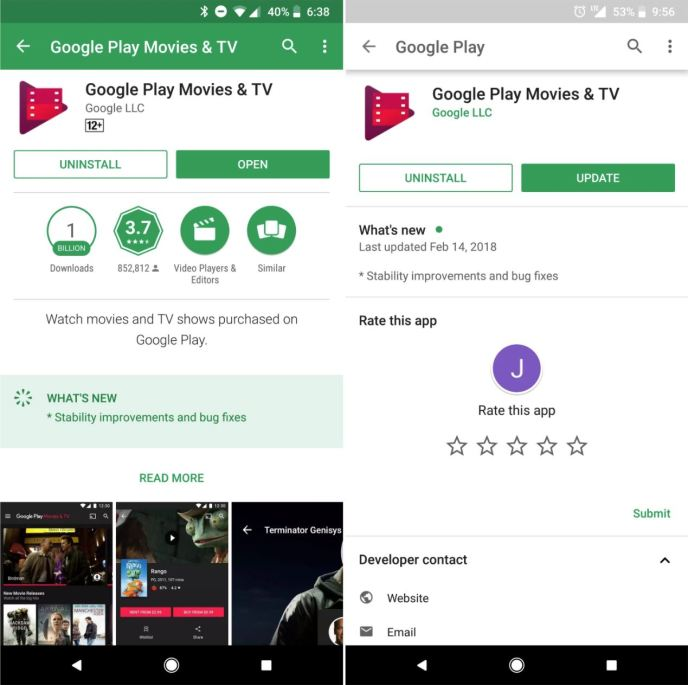 Play Store Redesign Leak Feb 2018