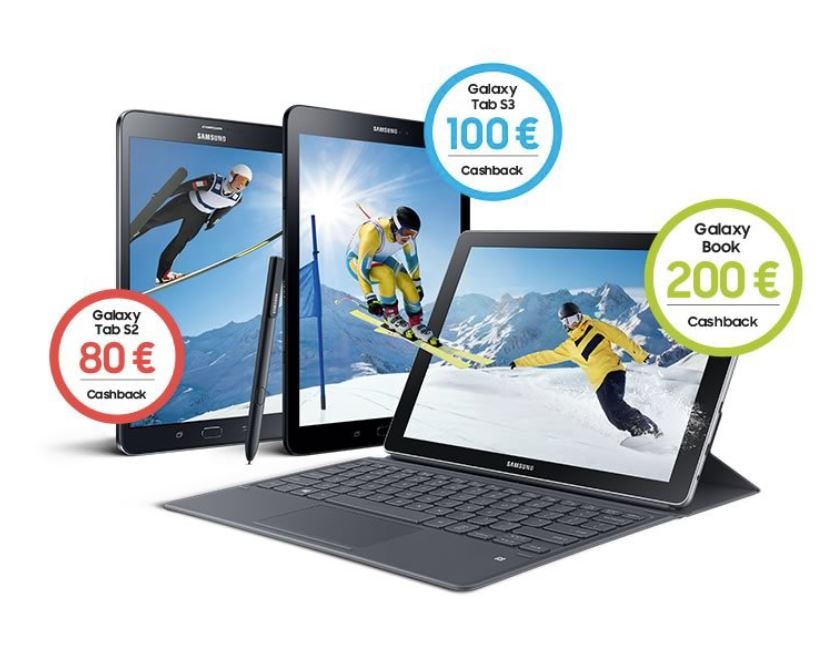 Samsung Tablet Cashback Feb 2018