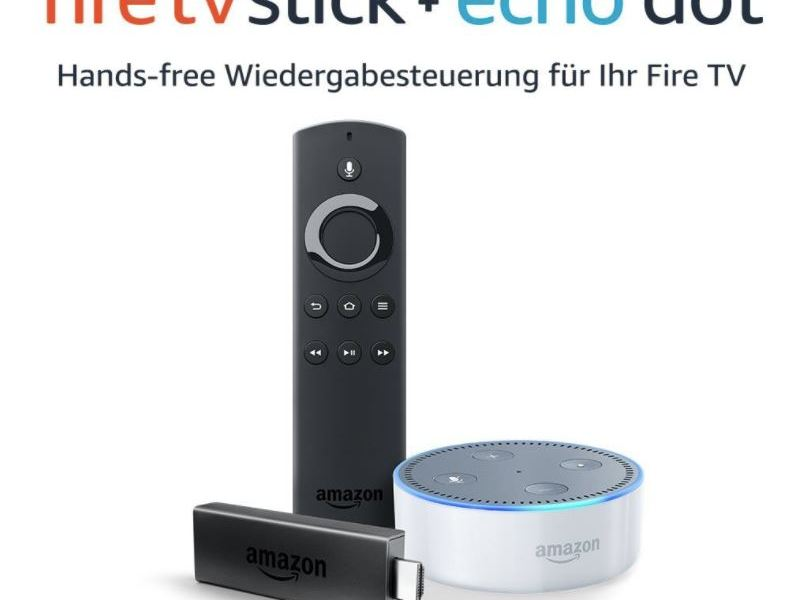 amazon fire tv stick echo dot im bundle sehr g nstig im. Black Bedroom Furniture Sets. Home Design Ideas
