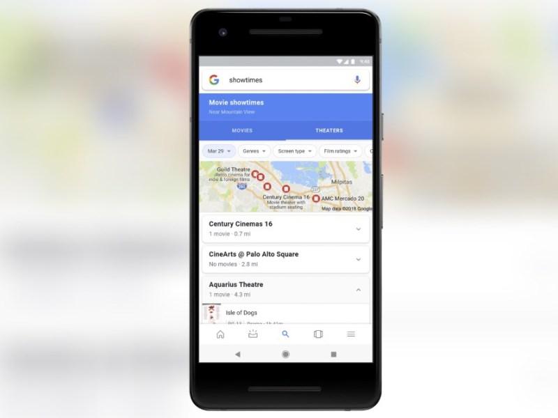 Google Maps Kino Showtimes Movies Header