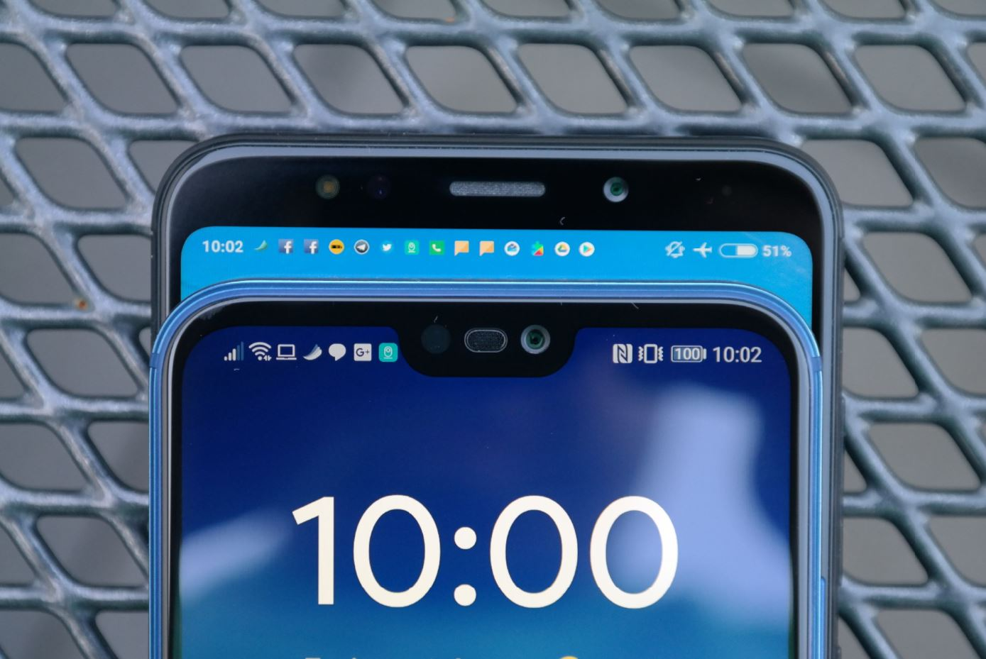 Huawei P20 lite Redmi 5 Plus Display-Notch Vergleich