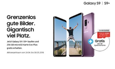 Samsung Galaxy S9 256 GB Speicherkarte Aktion