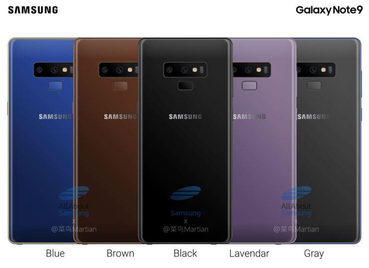 Samsung Galaxy Note9 Farben Leak