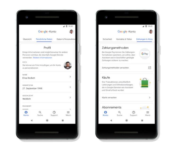 Google-Konto Update Juni 2018