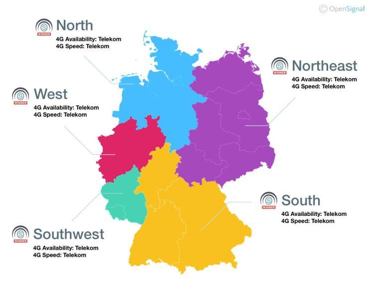 LTE Deutschlandkarte OpenSignal Juni 2018