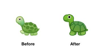 turtle-emoji-android-p-before-after