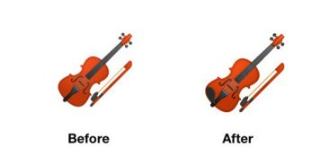violin-emoji-android-p-before-after