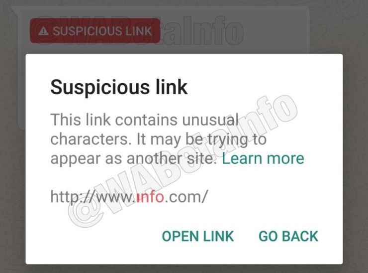WhatsApp Suspicious Link Detection