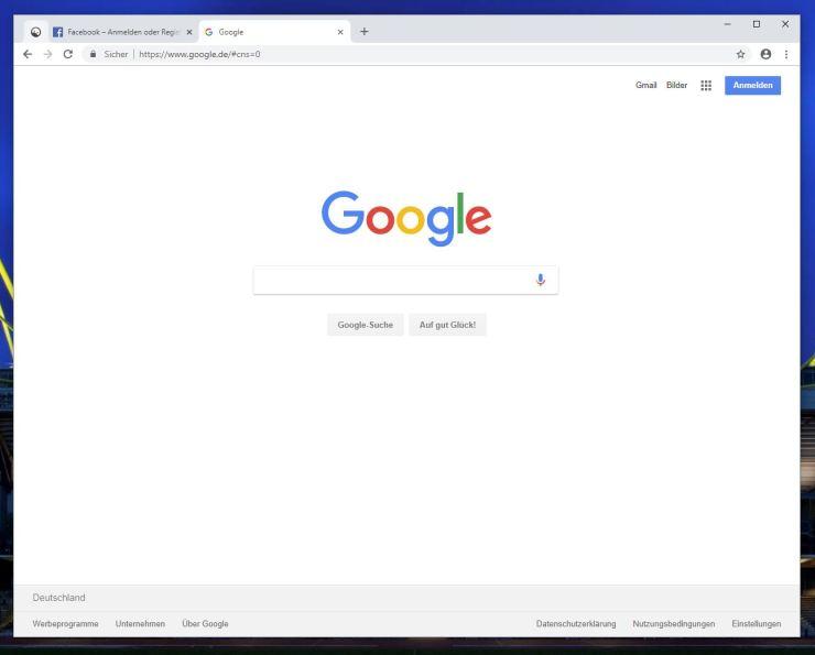 Chrome Canary Design Juli 2018