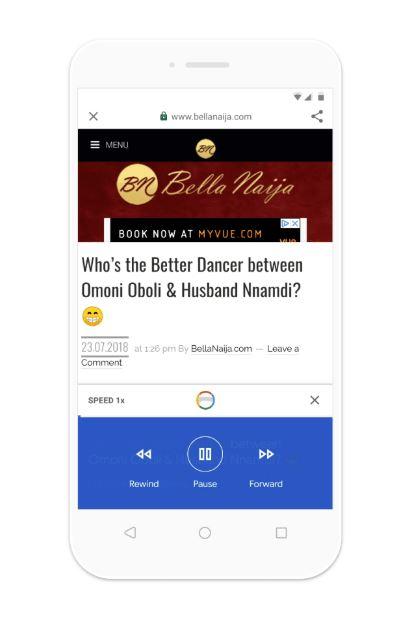 Google Go Artikel vorlesen