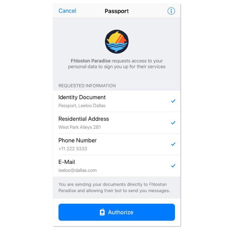 Telegram Passport Screenshot