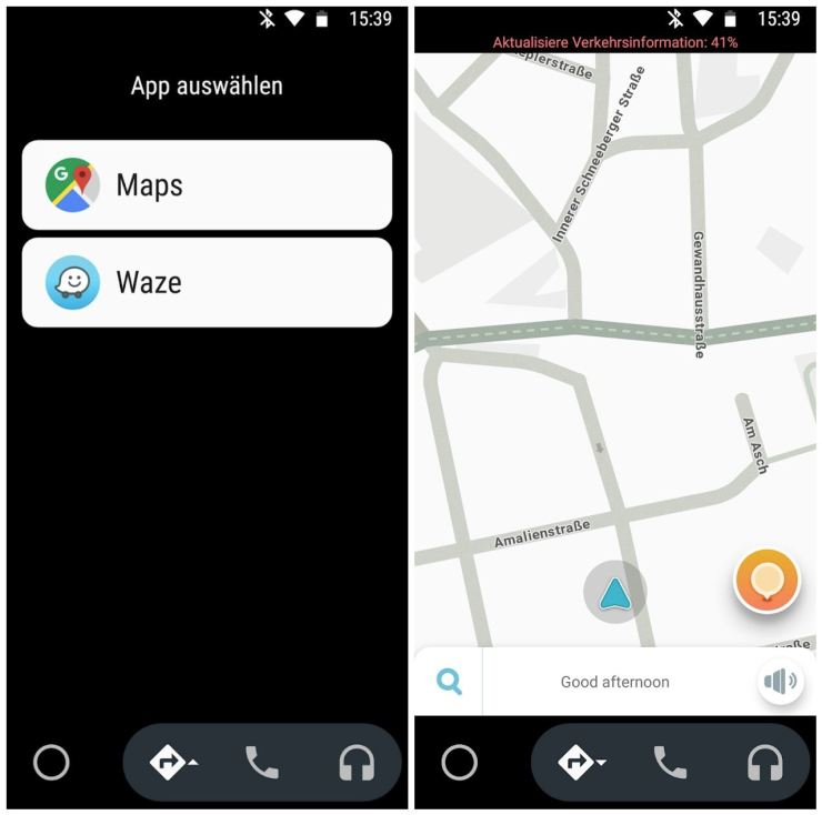 Waze in Android Auto