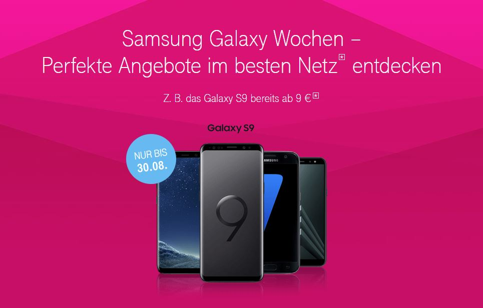 Samsung Aktion Telekom August 2018