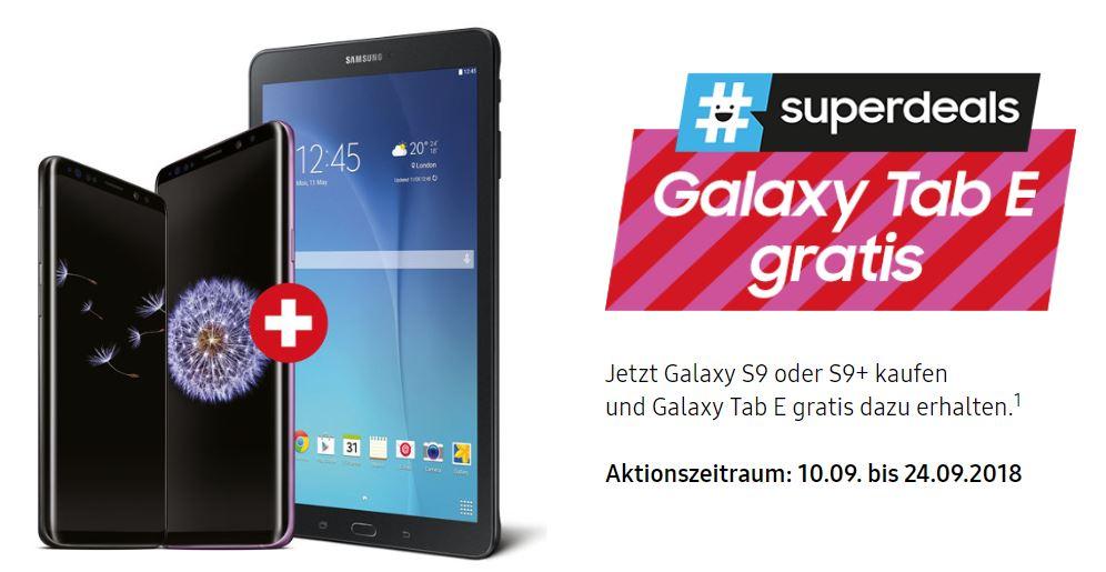 samsung galaxy s9 neuer superdeal mit gratis tablet. Black Bedroom Furniture Sets. Home Design Ideas