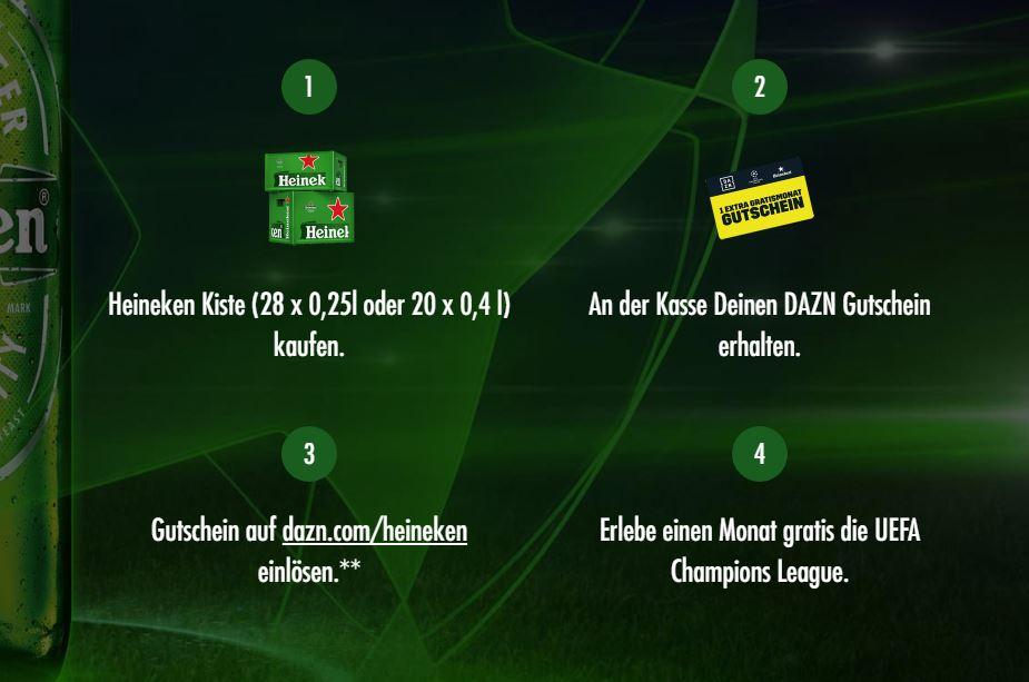 Dazn 1 Gratismonat Für Die Kiste Heineken Pünktlich Zur