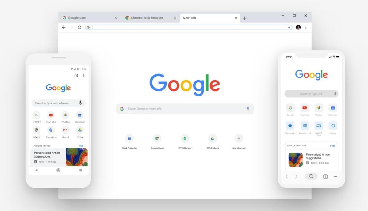 Google Chrome Design Update 2018 September