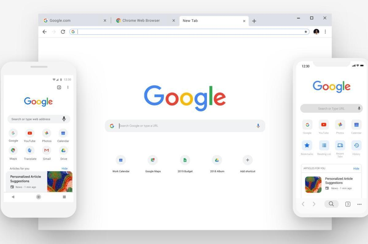 Google Chrome Design Update 2018 September
