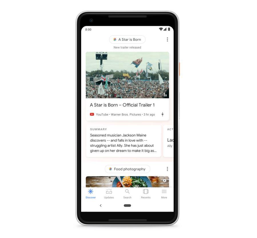 Google Discover Header