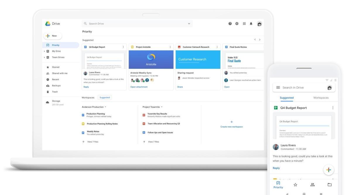 Google Drive Priority Header