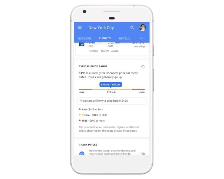 Google Flugsuche preis
