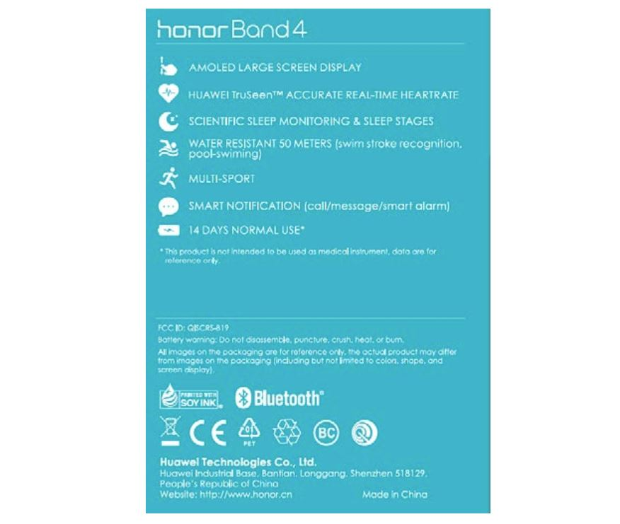 huawei band 4 specs