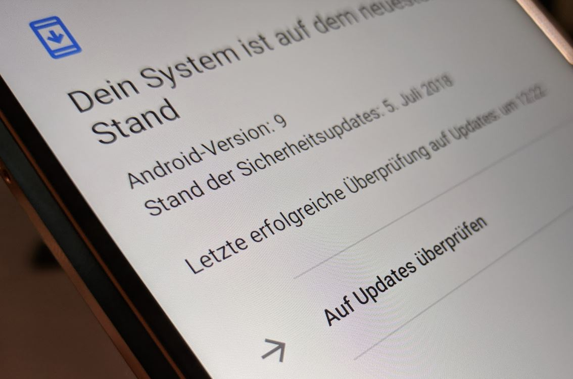 Update Systemeinstellungen Header