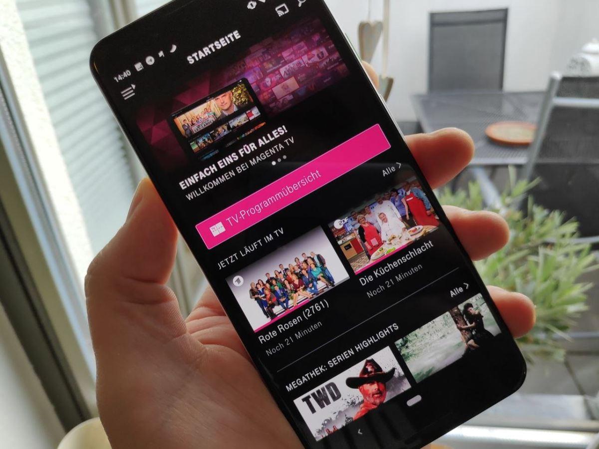 Magenta TV Android App Header