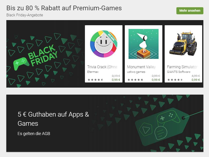Google Play Angebote
