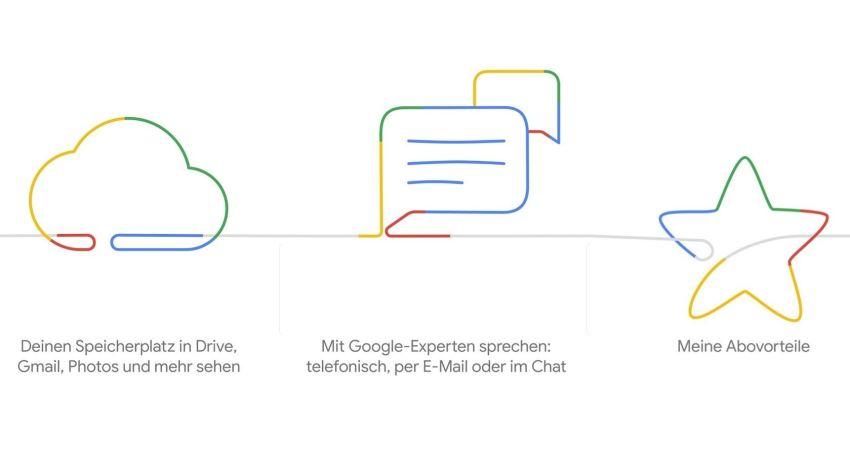 Google One Header