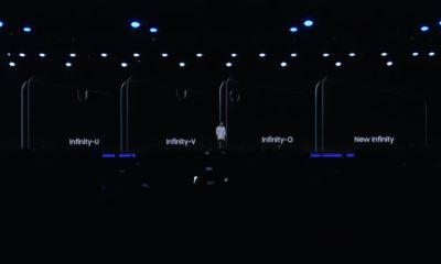 Samsung Infinity U V und O Notch Displays