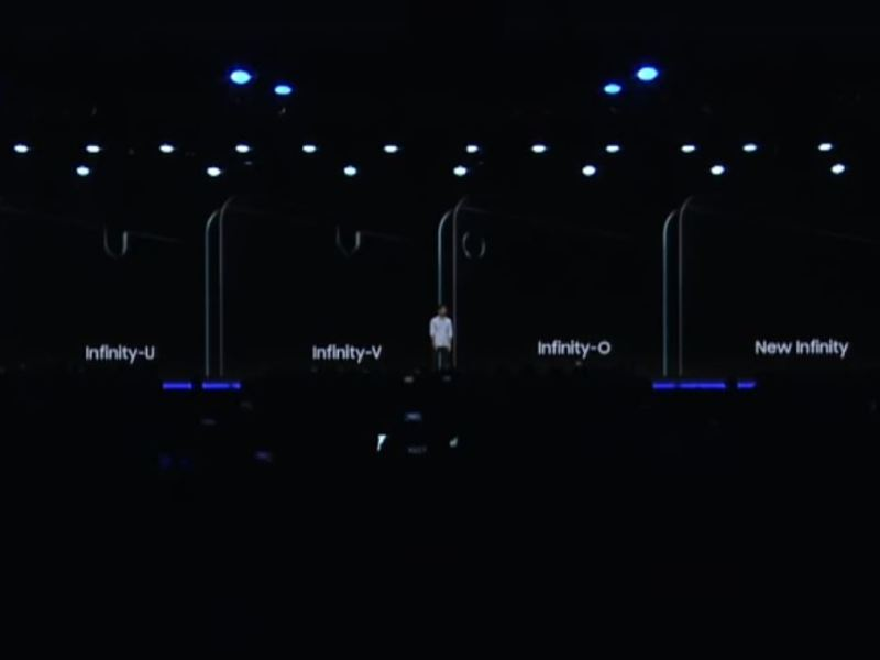 Samsung Infinity U V und O Notch Displays