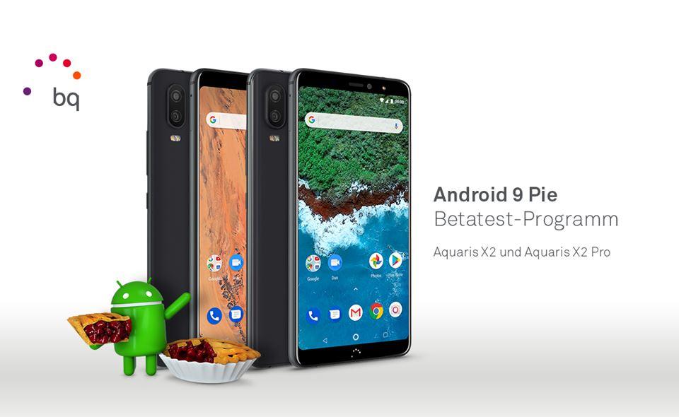 BQ testet Android 9 Pie auf dem Aquaris X2 und X2 Pro