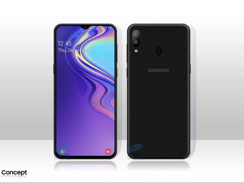 Samsung Galaxy M20 Leak Concept