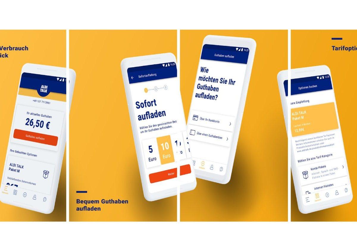 Aldi talk App Header