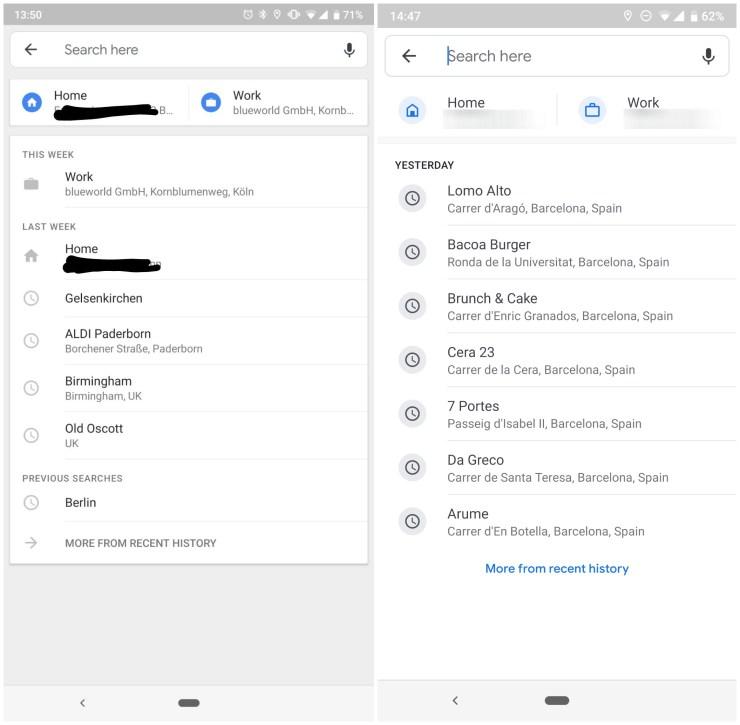 Maps Suche Update Jan 2019