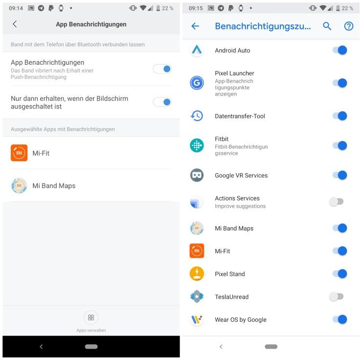 Xiaomi: App zeigt Navigation auf dem Mi Band 3
