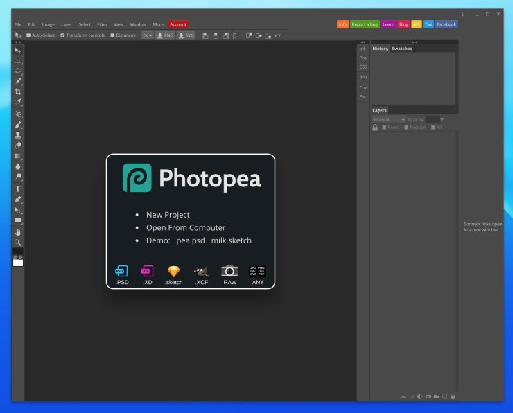 Photopea Screenshot
