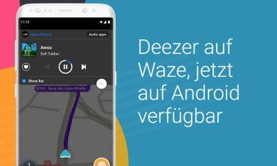 Deezer Waze Header