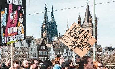 Artikel 13 Demo Köln Mika Baumeister