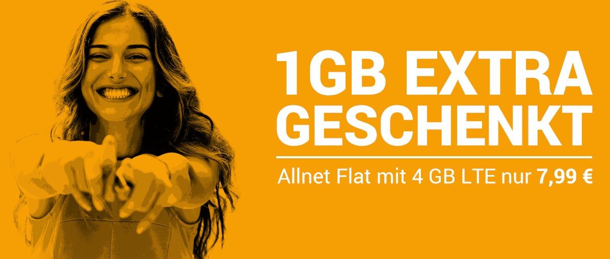 Nur am Wochenende: 4 GB LTE-Tarif bei winSIM für 7,99 Euro mtl.