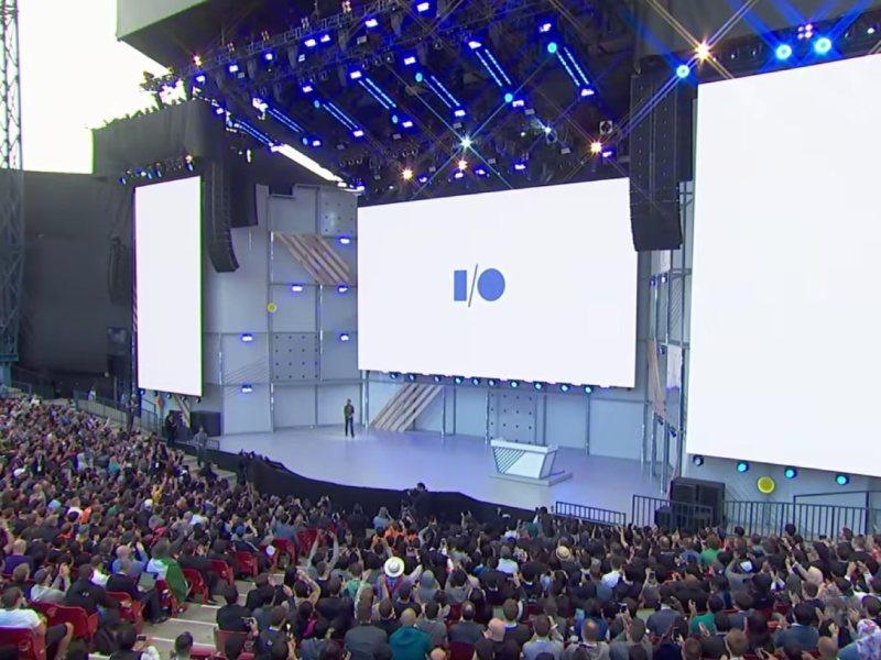 Google IO Bühne Header