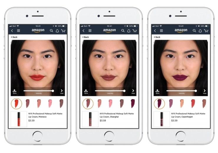 Amazon App AR Lippenstift