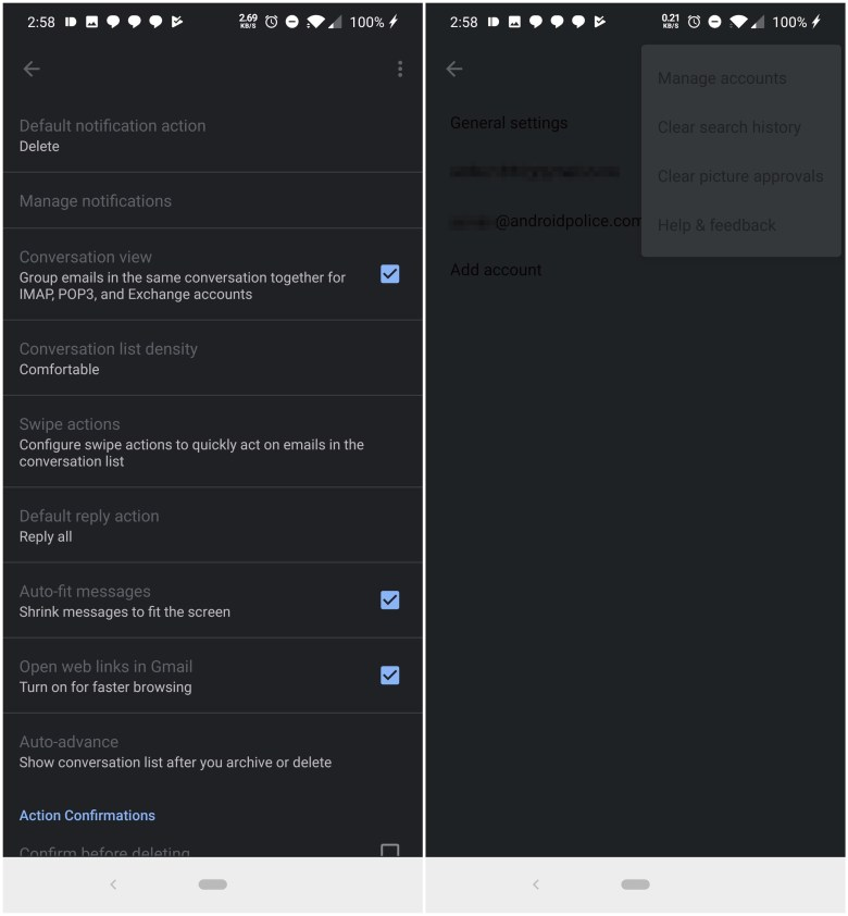Gmail Dark Mode Buggy