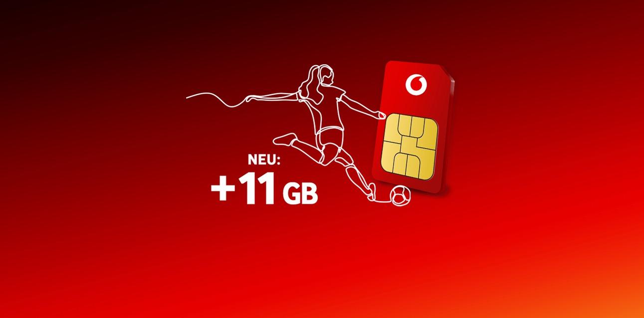 Vodafone: Callya-Neukunden erhalten einmalige 11 GB Datenvolumen kostenfrei