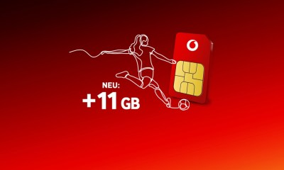 Vodafone plus 11 GB Frauen WM Aktion Prepaid