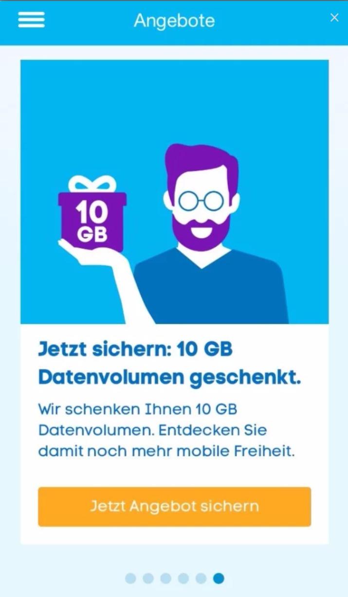 Blau 10 GB kostenlos Prepaid