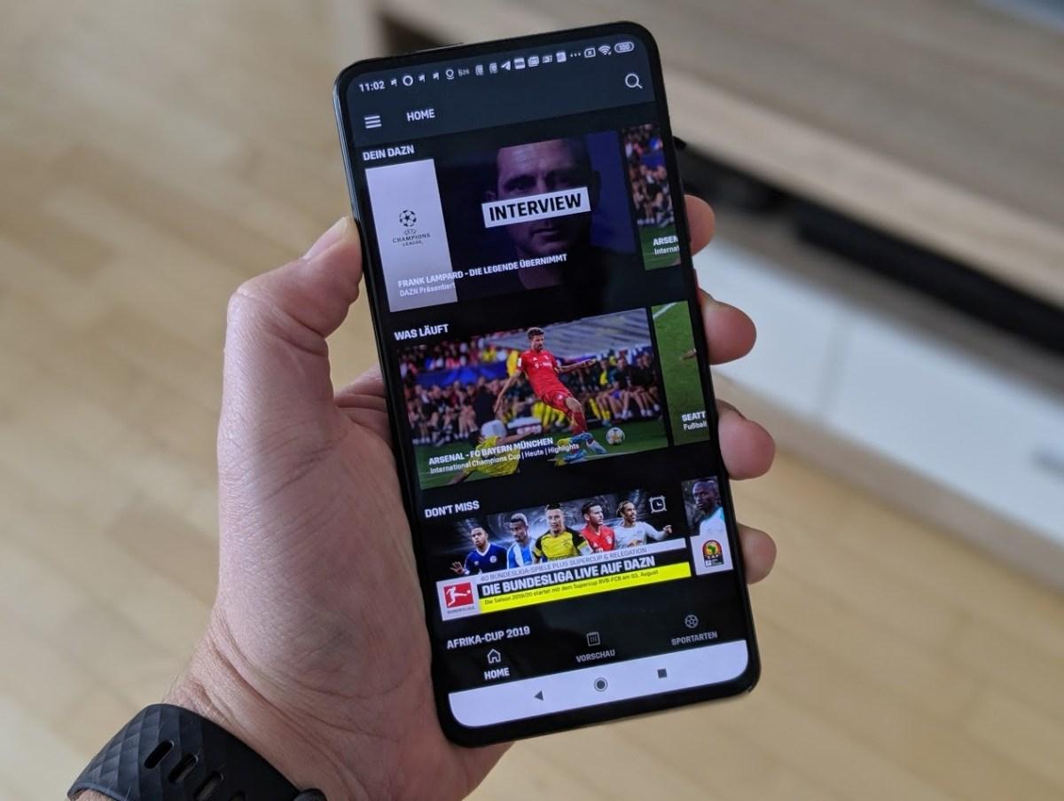 DAZN App Header 2019